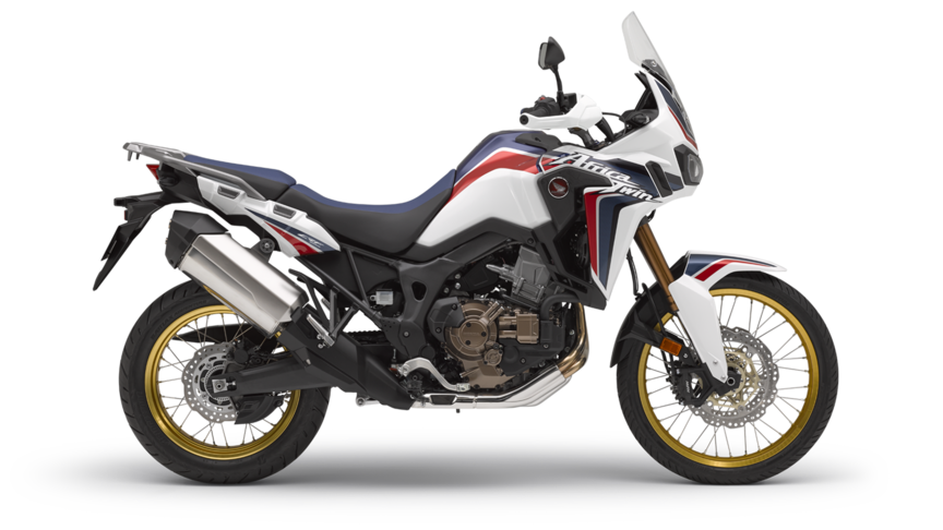 honda Africa Twin crf1000l white motorcycle